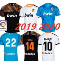 ingrosso camicia di valencia di valencia-Nuova maglia da calcio Valencia 2020 2020 Camiseta equipacion del Valencia 19 20 Migliore maglia da calcio di qualità 3A Parejo Batshuayi Gameiro