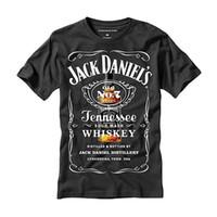cool camisa logotipos venda por atacado-O t-shirt dos homens frescos do logotipo clássico grande legal de Jack Daniels