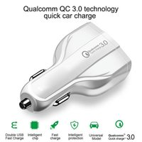 Wholesale android phone charging port for sale – best Fast Quick Charge Car charger USb Ports Type C W A Auto power adapter car chargers for samsung s10 Note android phone