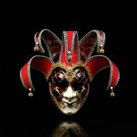 demi-masque de célébrité achat en gros de-Halloween noir et blanc masque de clown / masque d'horreur parodie spectacle de performance de bal habiller accessoires masque de clown