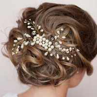 Wholesale bridal combs resale online - Hair Pin Wedding Bridal Jewelry Ornament Accessories for Women Girls Clip Comb Claw Wedding Party