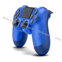 controladores de juego bluetooth al por mayor-Controlador inalámbrico Bluetooth para PS4 Vibración Palanca de juegos Gamepad Controlador de juegos para Sony Play Station Con caja al por menor