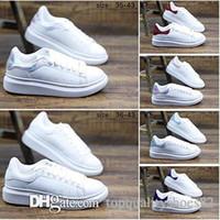 ingrosso scarpe da ginnastica da sposa bianco per le donne-Designer Casual per le donne Sneakers da uomo Piattaforma di pelle bianca Scarpe da cerimonia per le feste casual da party Scarpe da ginnastica di design trendy Taglia 36-40