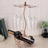 Wholesale counter display stands resale online - European Tabletop Freestanding Stackable Wine Glass Metal Rack Counter top Wine Bottles Holder Display Stand