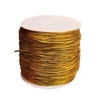 cuerda de oro al por mayor-Urijk 25 M / Roll oro / plata cuerda de embalaje adornos cuerdas elásticas para la decoración casera regalo de Navidad hecho a mano embalaje artesanía DIY