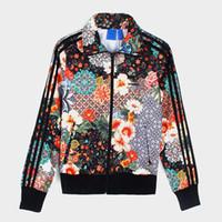 ingrosso giacche da fiore donna-Giacche stampate da donna di lusso con stampe Giacche casual da donna di marca Giacche sportive da donna sottili Giacche di moda stampate Streetwear Giacche taglia XS-XL