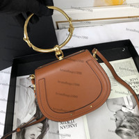Wholesale mini saddle bags for sale - Group buy Mini size Saddlle bag Genuine Leather Circle Ring Shoulder Bag Cross Body Highest Quality Come with box