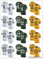 Wholesale green bay jersey youth for sale - Group buy Mens women youth Green Bay Packers NFL Aaron Rodgers Jaire Alexander Davante Adams Brett Favre Football Jerseys White