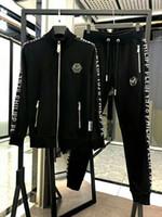 Wholesale running clothes men resale online - Designer Tracksuits Men Brand Designer Sport Tops Pants Suits Logo Fashion Autumn Men Hoodies Brand Sweatshirts Zipped Mens Clothing