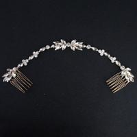 Wholesale vintage fascinators resale online - 2019 Chic Vintage Wedding Comb Crystal Headband Floral Bridal Headwear Hair Crown Crystals Handmade Bridal Accessories Hair Jewelry