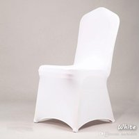Wholesale chair cover factory for sale - Group buy 100pcs NEW Hotel Lycra Stretch Party Chair Covers White Polyester Spandex Wedding Chair Cover From China Factory