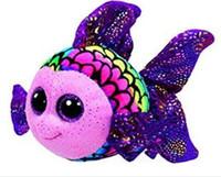 boo bebeği toptan satış-Ty Bere Boos Büyük Gözler peluş oyuncak Goldfish etiketi ile renkli bebek oyuncak 6