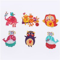 Wholesale plastic diamonds for decorations for sale - Group buy Novelty Diamond Stickers Special shaped Diamond Embroidery OWL Butterfly bee Diamond Painting For kids Round For Cup Book Phone Decoration