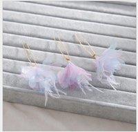 Wholesale korean dresses handmade resale online - Korean hairpin handmade pearl hairpin flower wedding dress accessories