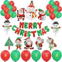 ipek oymalar toptan satış-Noel balon yılbaşı bayrağı Noel hediye seti yıldız dize payetler 12 - inç balon özel balon seti