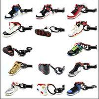 Wholesale sport shoe key chains for sale - Group buy 2019 Fashion Sports Shoes Keychain Cute basketball Key Chain Car keys Bag pendant Gift DIY d creative couples shoes mold