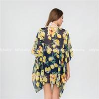 maillots de bain en mousseline achat en gros de-Nouveau mousseline de soie citron crème solaire et blouses de bikini couleurs Bikini maillot de bain crème solaire Cover-Ups