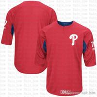 camisetas de práctica de béisbol al por mayor-Venta barata Philadelphia Lenny 4 Dykstra Phillies Jugador Práctica de bateo Jersey 7 Maikel Franco Camisetas de béisbol