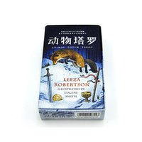 Wholesale animal board games for sale - Group buy Board Game Animal Totem Tarot Divination card High Quality Paper Cards Chinese English Edition for Astrologer