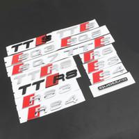 emblema rs4 venda por atacado-Peças Originais Audi S3 S3 S5 S6 S6 S7 S8 TATS SAT RS3 RS4 RS5 RS6 RS7 RS8 SQ4 SQ5 SQ7 SQ7 SQ7 S8 S8 R8 Cauda Tronco Emblema adesivo