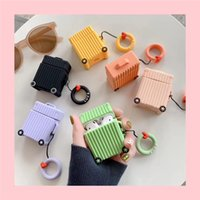 Wholesale trolley covers for sale - Group buy For Apple Airpods Charging Case D Cute Silicone Cartoon Model Trolley Case Airpods Charging Dock Cover With Ring Buckle Holder