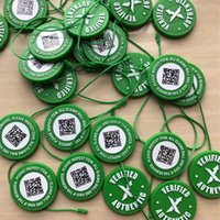 Wholesale circular stickers for sale - Group buy 2019 Correct Stock X OG QR Code Sticker Green Circular Tag Plastic Shoe Buckle StockX Verified X Authentic Green Tag