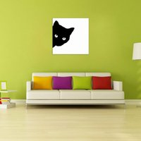 Wholesale oil painting for wall decoration resale online - W031 Black Cat Unframed Art Wall Canvas Prints for Home Decoration