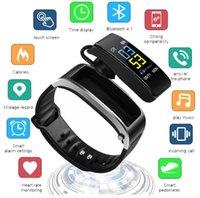 erkekler için bluetooth bilezik toptan satış-Y3 Artı Akıllı Bilezik Pasometre Kalp Hızı Monitörü Bluetooth Izle Adam Kadın Spor Bluetooth Kulaklık Ile İzle Akıllı İzle Bileklik