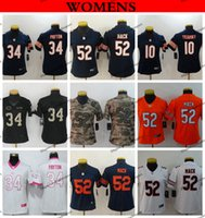 3600f1fedc4 Womens Chicago Ladies Bears 10 Mitchell Trubisky 52 Khalil Mack 34 Walter  Payton Football Jerseys Cheap Girls Stitched Shirts S-XXL