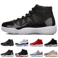 altın balo ayakkabı boyutu toptan satış-11 11'leri Erkekler Basketbol Ayakkabıları Balo Gecesi Şapkanız Donanma Sakız Barons Concord Bred Rose Gold Kapanış Töreni Spor Sneakers Boyut 5,5-13
