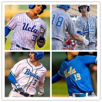 Wholesale light blue baseball jerseys resale online - NCAA UCLA Michael Toglia Jeremy Ydens Chase Utley White Gray Light Blue Retro College Baseball stitched men Jersey