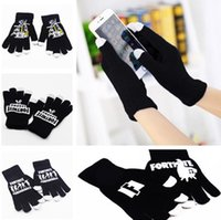 Wholesale free games online for sale - Fashion Fortress Night Touch Screen Five Fingers Gloves Winter Comfortable Warm Gloves Student Online Game knitted Glove T7C5005