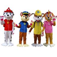 mascote do cachorro quente venda por atacado-Venda quente Cão Traje Da Mascote Cão de Natal do Dia Das Bruxas mascotte adultos trajes anime
