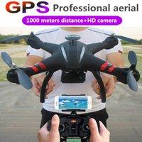 gps da câmera quadcopter venda por atacado-Zangão de XYCQ X22 FPV RC com o GPS Quadcopter sem escova de GPS WIFI da câmera de 1080P HD