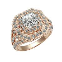 rubin stein ring frauen großhandel-Yoursfs Ruby Ring für Frauen Big Zirkon CZ Zirkonia Stein Ringe für Frauen Engagement Schmuck Geschenk