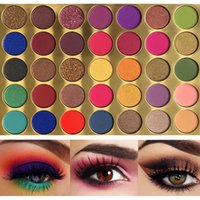 Wholesale bright eyes makeup for sale - Group buy 35 Bright Colorful Matte Eyeshadow Palette Shimmery Silky Powder Long Lasting Pigments Pressed Glitter Eye Shadow Pallete Makeup