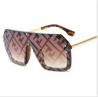 marca de óculos de sol venda por atacado-Ff mulheres designer de óculos de sol 2019 carta de moda verão óculos de sol da marca grande quadro óculos de sol do mar praia à prova de areia-óculos de sol b6271