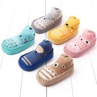 Wholesale baby cartoon socks shoe resale online - Toddler Baby Girl Boy Shoes First Walker Cartoon Newborn Anti Slip floor Socks