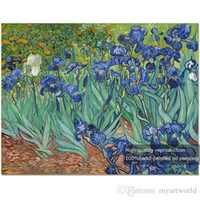 Wholesale vincent painting for sale - Group buy Irises Flowers Pure Hand Painted Modern Wall Decor Vincent Van Gogh Abstract Art Oil Painting On High Quality Canvas Multi sizes VG002