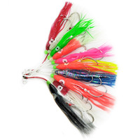 Wholesale lure crafting online - 10pcs Luminous Soft Octopus Fishing Lures cm Trolling Squid Skirts Fishing Baits Tuna Tail Fish Tackle Craft for Jigging Rigs