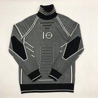 gefüttertes sweatshirt großhandel-19SS Swaeter Black and White Line Dekoration Sweatshirts Mode Sinn für Wissenschaft Technologie Langarm gestrickt Sanitär HFHLWY015