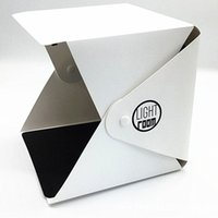 Wholesale Mini Photo Studio Box Room Photography Backdrop Portable Lightbox built in Light LED Photo Box Photography Backdrop Box Softbox Tent Kit