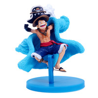 Wholesale grownups toys for sale - Group buy One Piece Toy Blue Fine Clothes Monkey D Luffy Toy Figures Anime Cartoon Characters Model Ornament Kid Gifts mfc N1