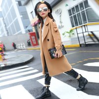 Winter Autumn Trench Coat Jacket For Girls Teenagers Jackets 2018 Kids Teens Fashion Outwear 5-13 years warm children clothing