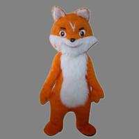 костюмы талисмана лисы оптовых-Прекрасный Новый стиль Orange Fox Костюм Талисмана Для Фестиваля / Hallooween / Рождество