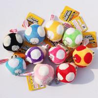 mario jouets en peluche gratuits achat en gros de-Super Mario Bros Champignon Avec Porte-Clé En Peluche Poupée 2.5