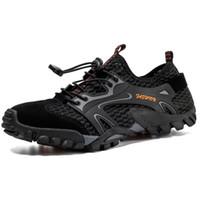 sapatos de escalada ao ar livre respirável venda por atacado-Malha Respirável Homens Caminhadas Sapatos Não Escorregar Escalada Montanha Sapatos Anfíbios de Pesca Ao Ar Livre Calçados Esportivos Quick Dry Sneakers