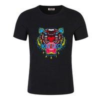 columpio camisetas al por mayor-19SS TOPS verano de la nueva camiseta de manga corta de algodón transpirablekenzo Hombres Mujeres Moschinos Oscilación del oso Camiseta casual al aire libre de la calle luciendo camisetas