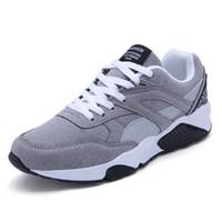 nuevo estilo de calzado plano al por mayor-Zapatilla de deporte casual para hombre Primavera Verano Zapatos de estilo casual de PU de los hombres al aire libre Zapatos planos de malla Marca de calzado 44