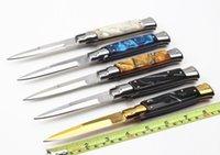 lâminas múltiplas venda por atacado-9 polegadas estilo italiano facas de Dobrável 440C lâmina com caixa de varejo de manga de nylon Camping multi-purpose Faca de Sobrevivência EDC Combate Tático Caminhadas